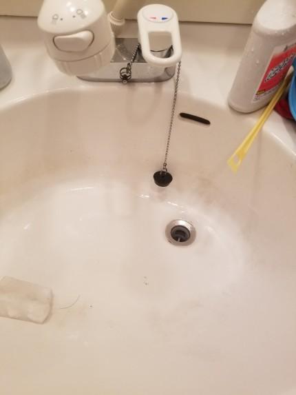 洗面台水垢