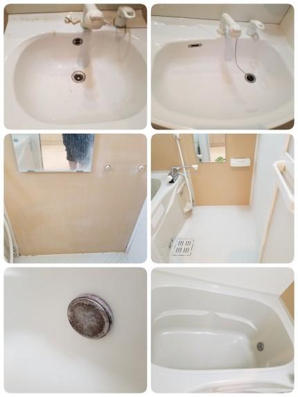 浴室、洗面クリーニング