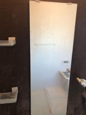 浴室、鏡おそうじ