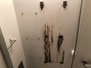 浴室 鏡おそうじ