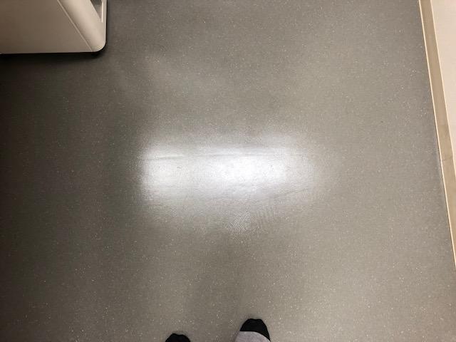 床の洗浄、ワックス