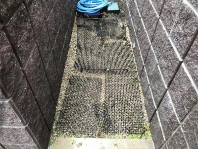 お庭の清掃