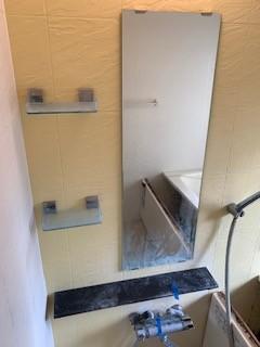 浴室壁、鏡清掃
